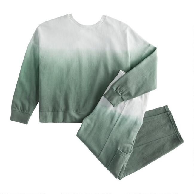Sage Green And White Ombre Loungewear Collection