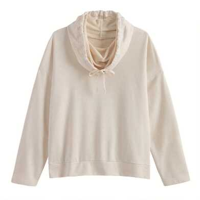 Oatmeal Cowl Neck Lounge Top