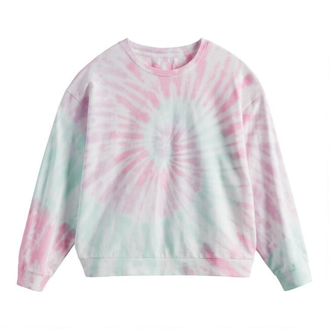 Multicolor Tie Dye Lounge Sweatshirt