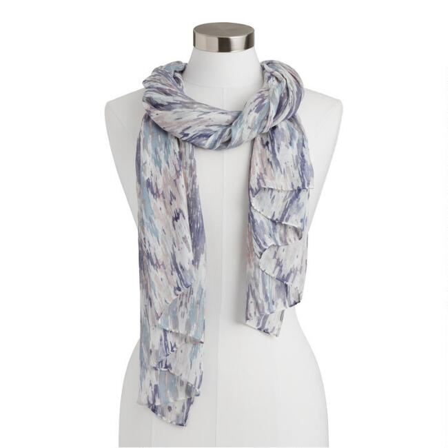 Blue and Purple Mineral Wave Scarf