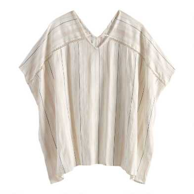 Ivory Textured Stripe O'Keefe Tunic Top