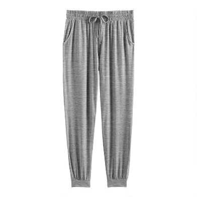 Gray Space Dye Lounge Joggers With Pockets