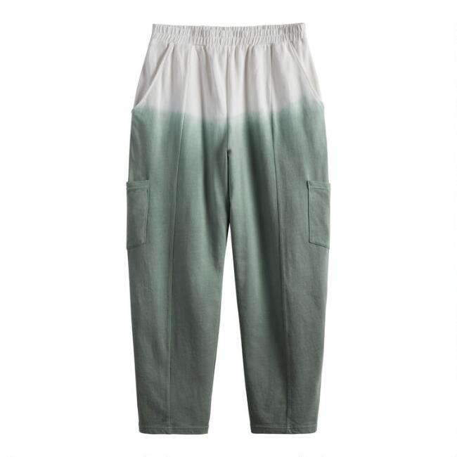 Sage Green And White Ombre Lounge Pants With Pockets