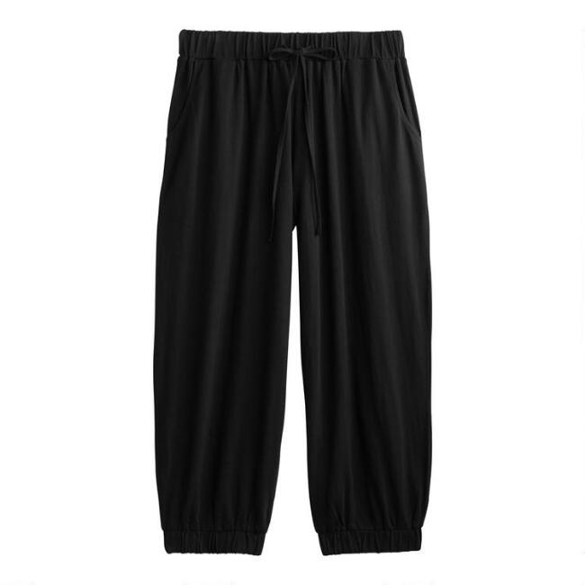 Black Knit Lounge Pants