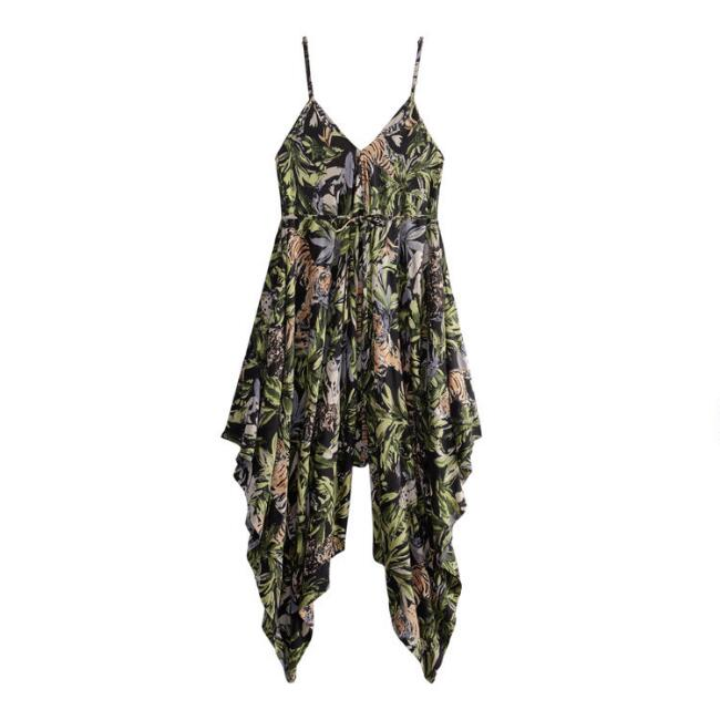 Jungle Tiger Jumpsuit With Pockets