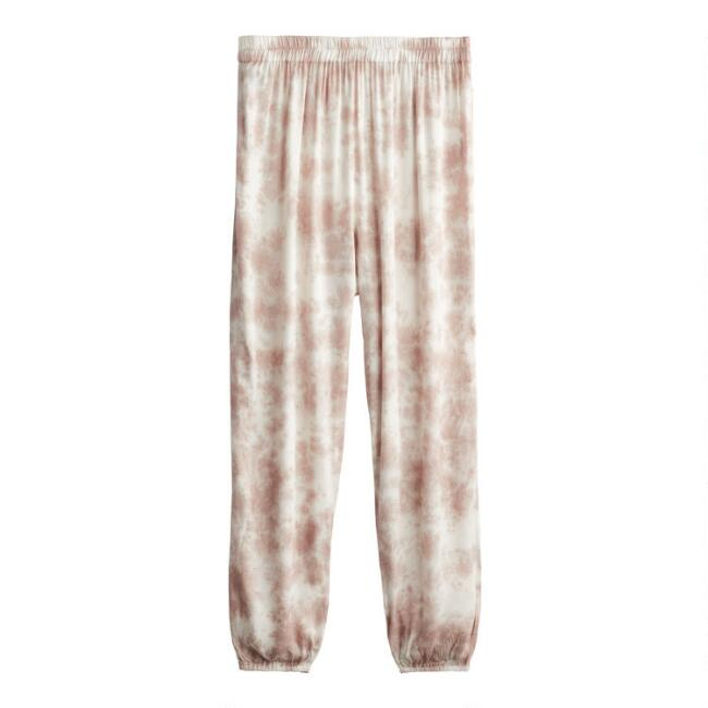 Dusty Blush And Ivory Tie Dye Lounge Pants