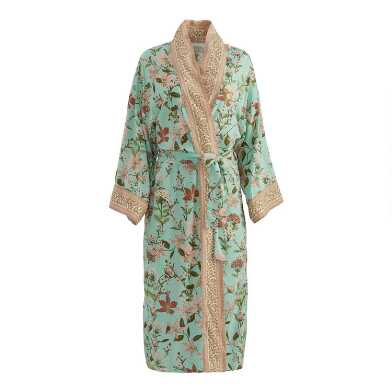 Teal and Ivory Blossom Robe