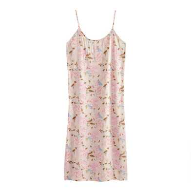 Pink, Brown and Blue Peony Nightgown