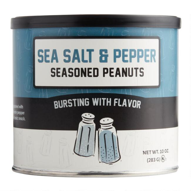 Carolina Nut Co. Salt and Pepper Seasoned Peanuts Set of 2