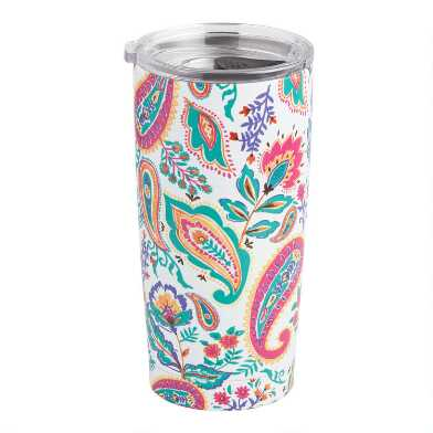 Studio Oh Paisley Floral Insulated Stainless Steel Tumbler