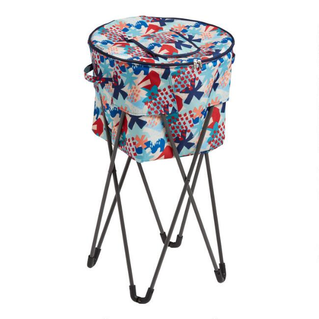 Multicolor Jolie Floral Insulated Cooler Tub with Stand