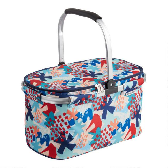 Multicolor Jolie Floral Collapsible Insulated Tote Bag