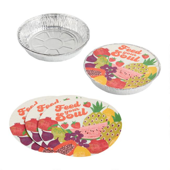 Round Picnic Bake Away Pans with Lids 4 Pack