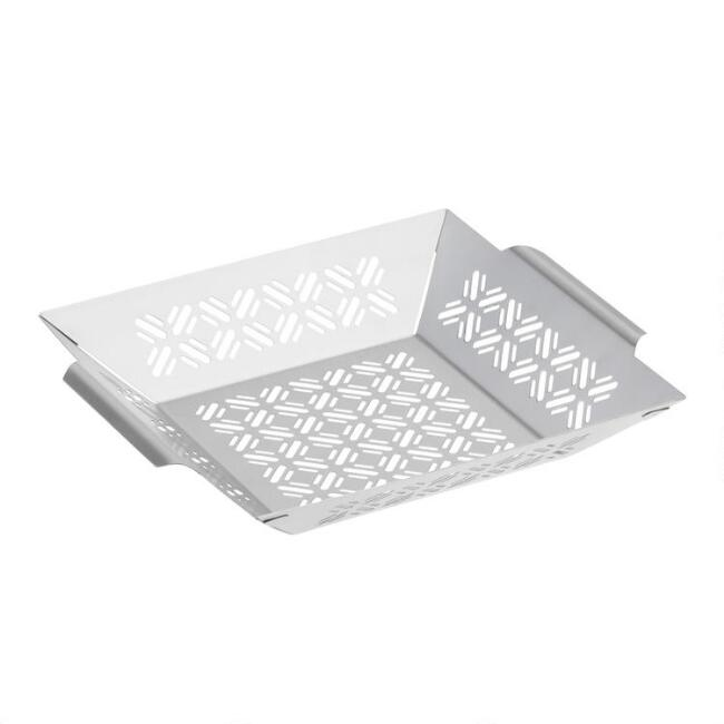 Square Stainless Steel Grilling Basket