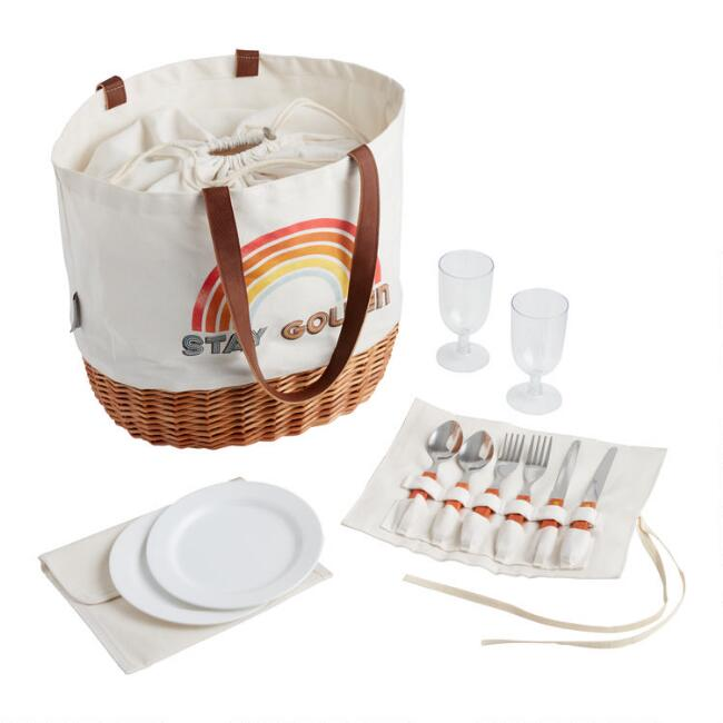 Stay Golden Promenade Collapsible Picnic Basket