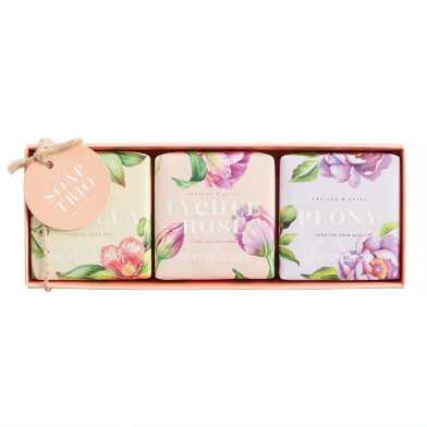 A&G Floral Bar Soap Gift Set 3 Piece
