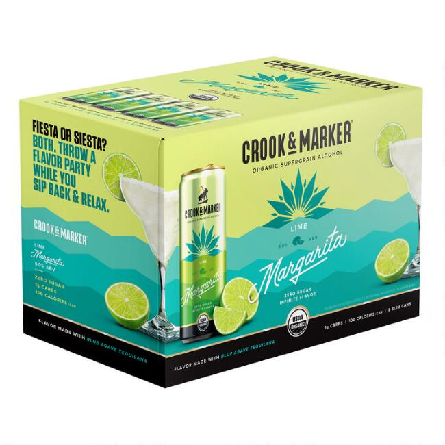 Crook & Marker Lime Margarita Can 8 Pack