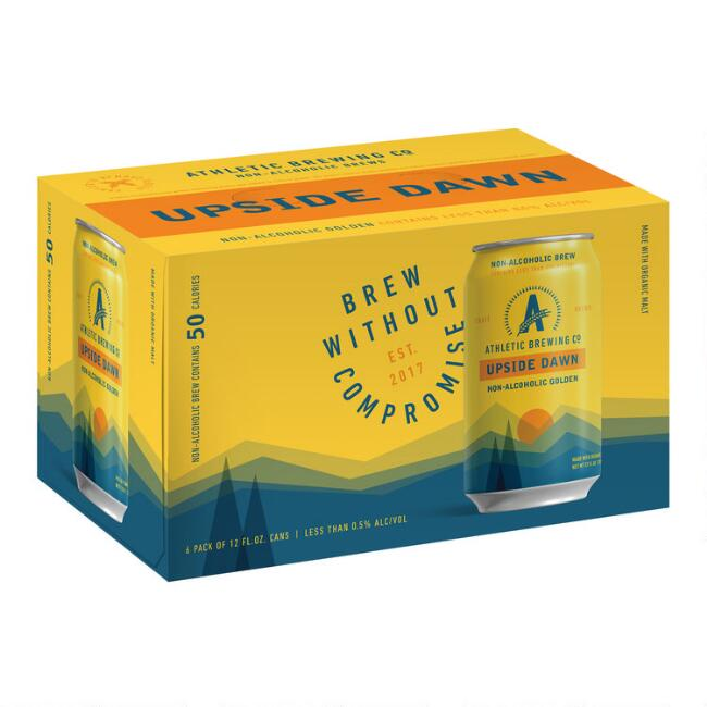 Athletic Brewing Non Alcoholic Upside Dawn Ale Can 6 Pack