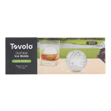 Golf Ball Ice Molds 3 Pack