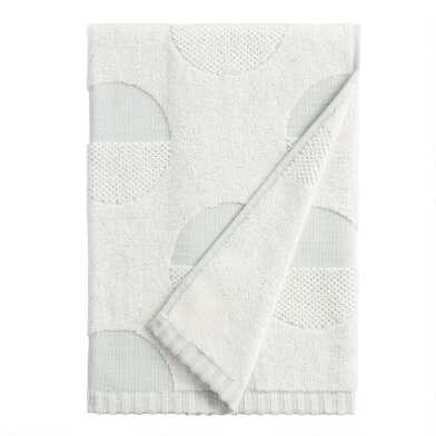 Jadeite Sculpted Half Dot Skyla Bath Towel