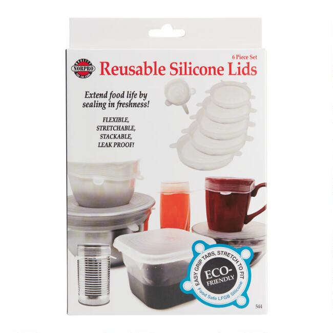 Transparent Stretch Silicone Storage Lids 6 Piece Set