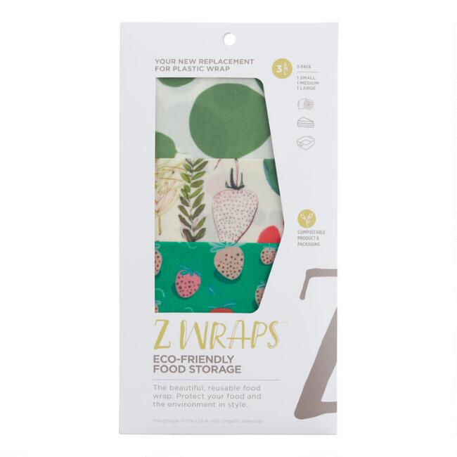 Z Wraps Berry, Market and Greens Reusable Food Wraps 3 Pack