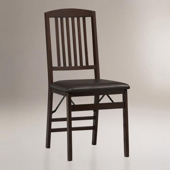 Everett Mission Back Folding Dining Chairs, Set of 2