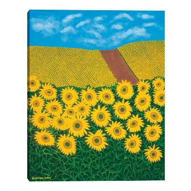 Tuscan Sunflowers by Synthia SAINT JAMES Canvas Wall Art