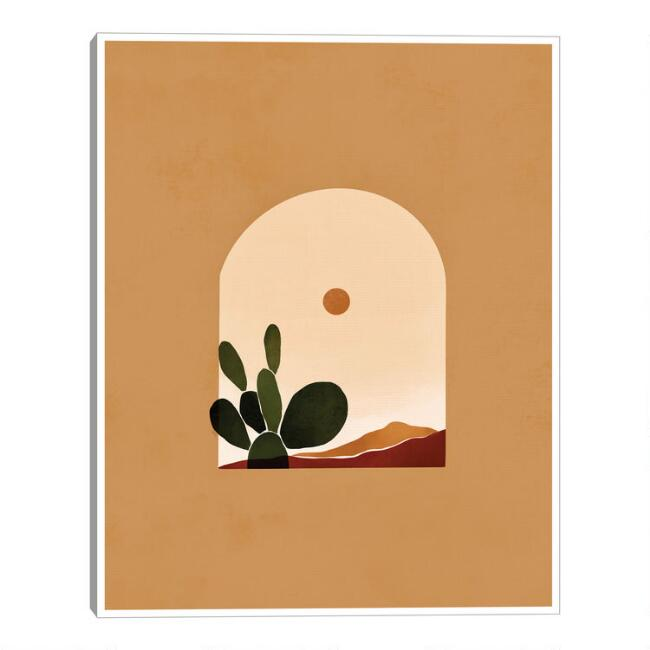 Desert by Bria Nicole Framed Canvas Wall Art