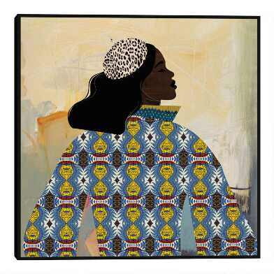 Girlie With Gold By Nikki Chu Framed Canvas Wall Art