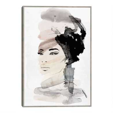 She Likes Water By Nikki Chu Framed Canvas Wall Art