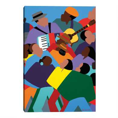 Zydeco by Synthia SAINT JAMES Canvas Wall Art