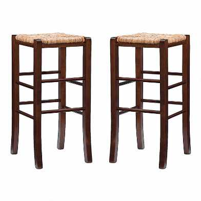 Natural Fiber Backless Francesca Barstool Set of 2