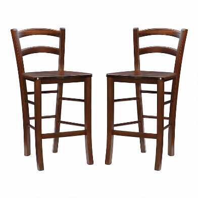 Wood Sofia Counter Stool Set of 2