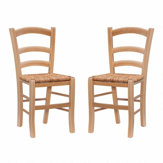 Wood Serafina Dining Chair Set of 2