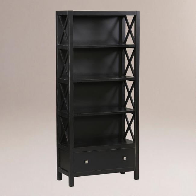 Easton Tall Bookcase, Antique Black