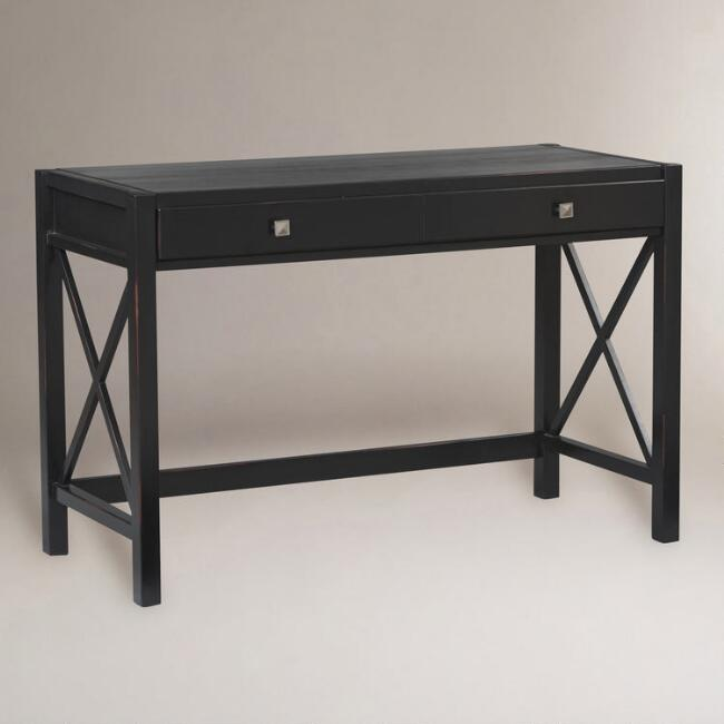 - Antique Black Easton Desk World Market