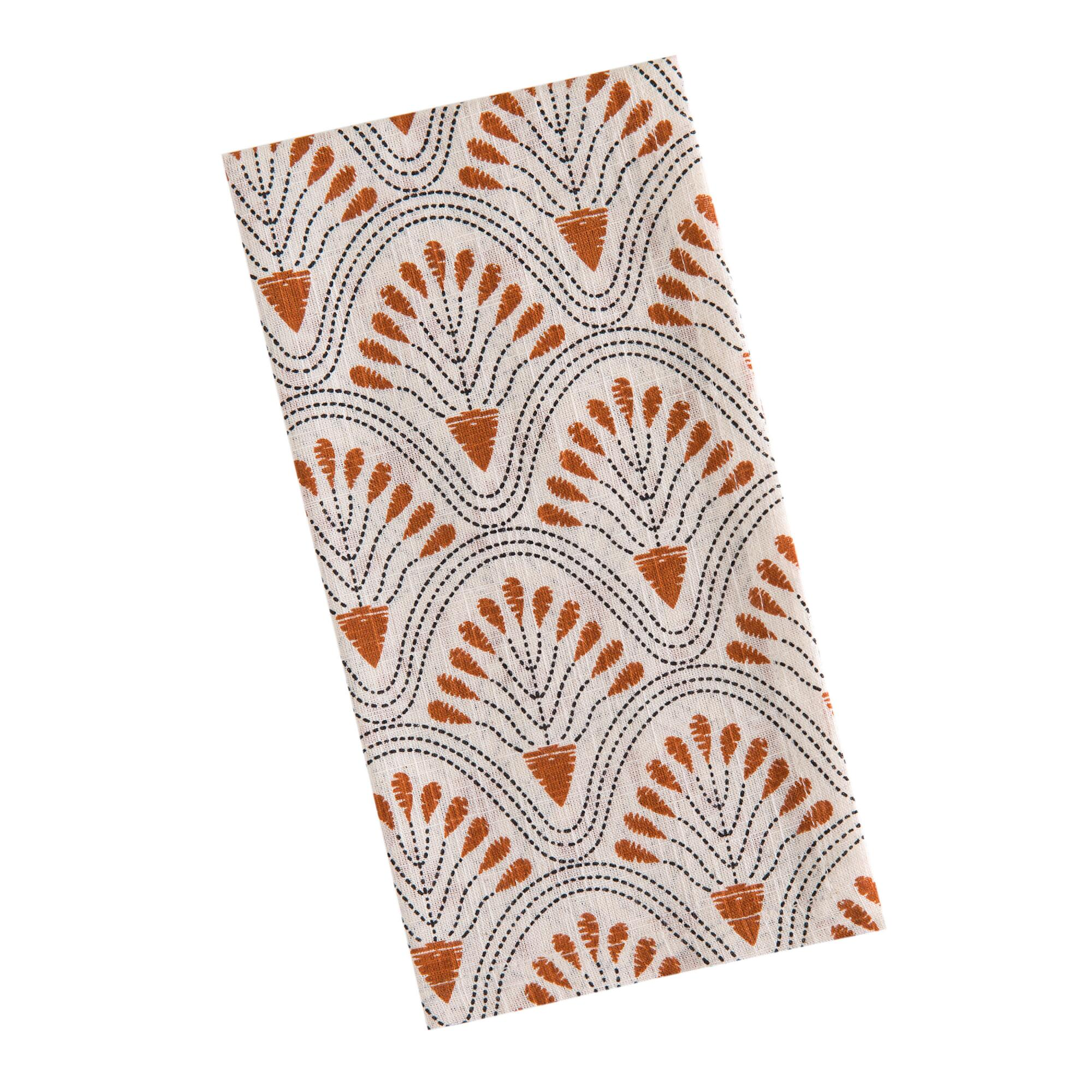 Shop Ivory Deco Floral Fan Napkins Set of 4 from World Market on Openhaus