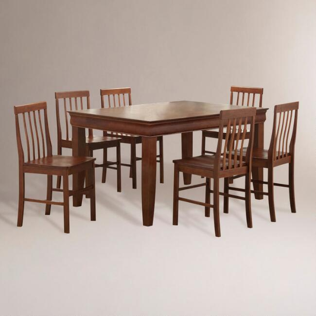 Brown Preston 7-pc Dining Set