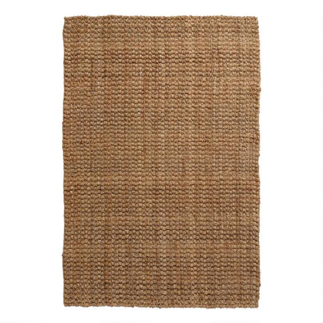 Natural Basket Weave Jute Area Rug