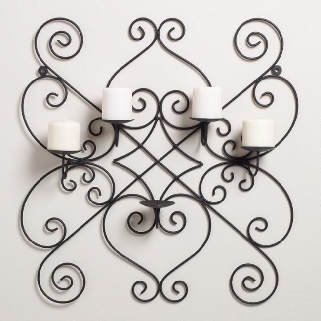 Pillar Candle Wall Sconce