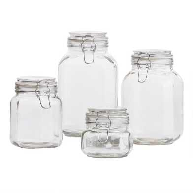 Glass Storage Jars with Clamp Lids