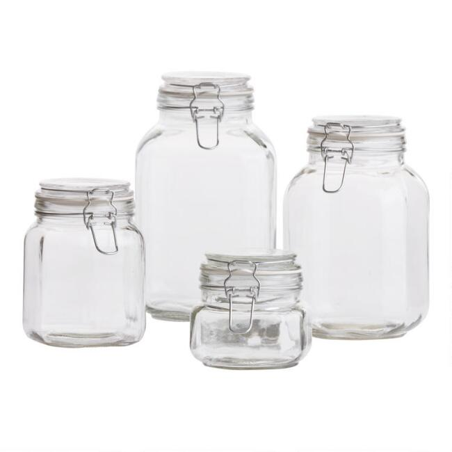 cc78b1278ac8 Glass Storage Jars with Clamp Lids