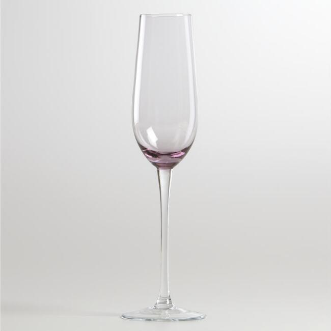 Jubilee Plum Flute Glass, Set of 4