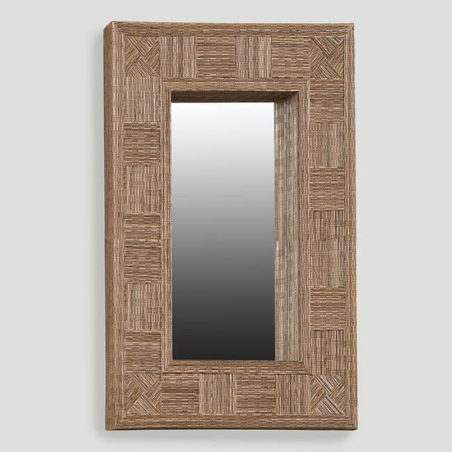 Coco Stick Mosaic Mirror, Oversized