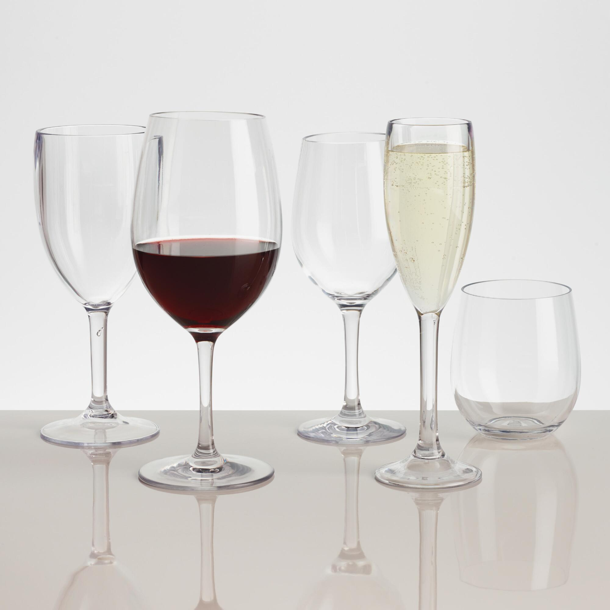 Acrylic Stemware Collection by World Market