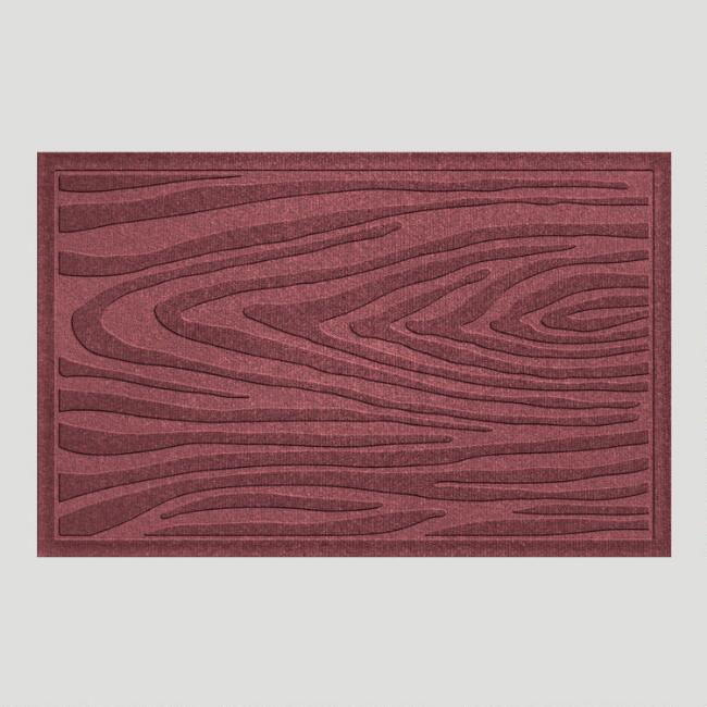 Bordeaux Wood Grain WaterGuard Doormat