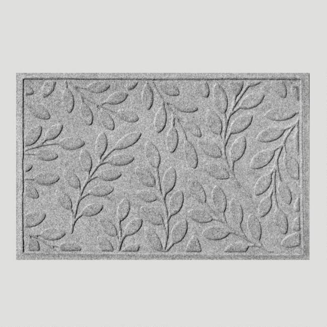 Gray Leaf WaterGuard Doormat
