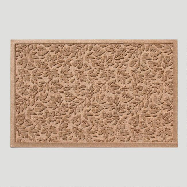 Medium Brown Fall Leaves WaterGuard Doormat