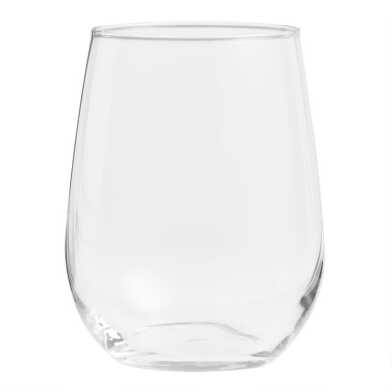 Stemless White Wine Glasses Set of 4
